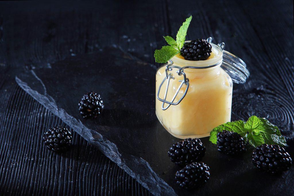 Blackberry Honey With Blackberries
