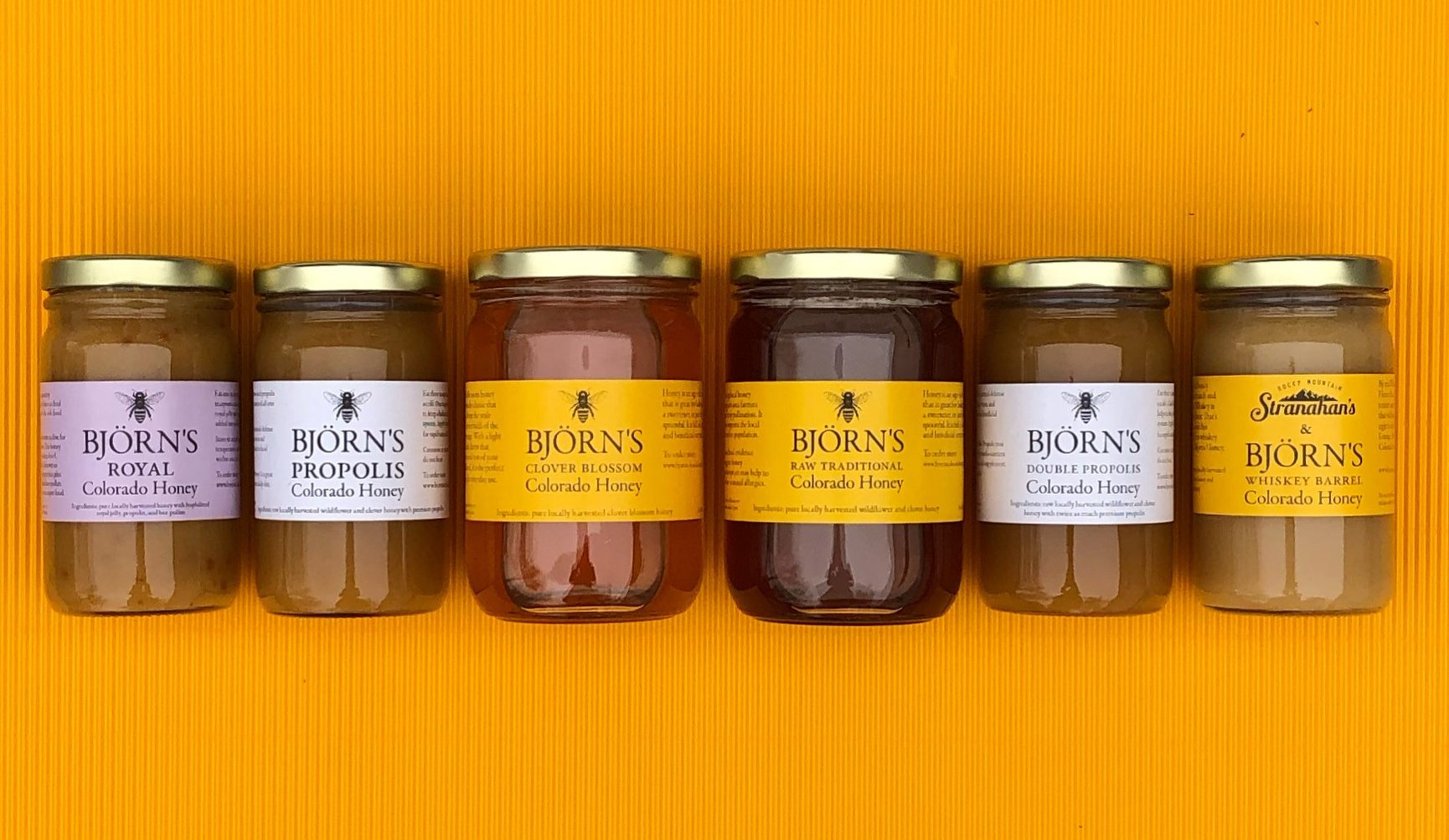 Bjorns Colorado Honey Selection of Honeys
